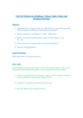 Unit 10 Deposits Study Guide