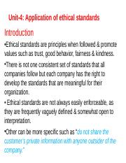 Unit 4 Application of ethical standards.ppt