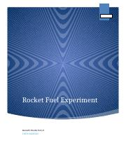 rocket fuel experiment