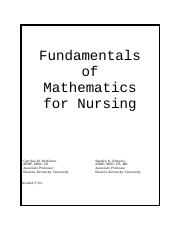 Nursing Math