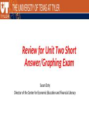 **Review for MACRO unit two short answer graphing exam