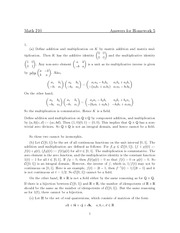 MATH 210 Homework 5 Solutions