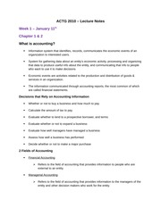 Lecture Notes - Chapters 1-7