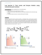 Lab Exercise 2_Time course enzyme kinetics -commercial invertase ad