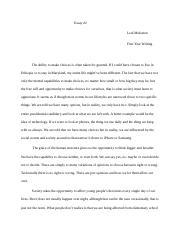 First Year Writing Essay #2.docx
