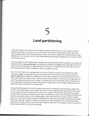 Unit 2 - Reading - Kimerling CH5 - Land Partitioning Systems