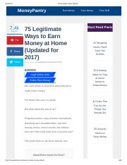 75 Legitimate Ways to Earn Money at Home (Updated for 2017)
