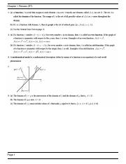 Chapter 1 Review Solutions