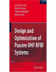 Springer - Design and Optimization of Passive UHF RFID Systems.pdf