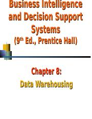 CH08_DSS_Turban_Data Warehouse.ppt