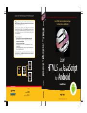 Learn HTML5 And JavaScript For Android pdf - BOOKS FOR