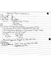 Notes On Special Right Triangles