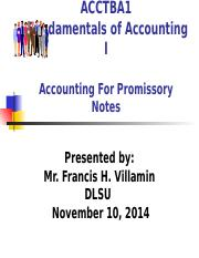 -ACCTBA1 - Lesson  7  Promissory Notes