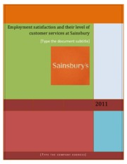 Case-Study-on-Employment-Satisfaction-at-Sainsbury
