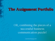 The Assignment Portfolio
