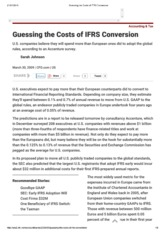 The Cost of IFRS Conversion and the impact