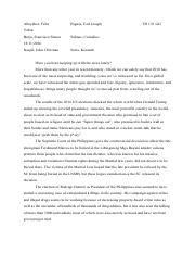 Theo 121 Homily Paper