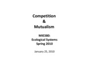 Competition and Mutualism