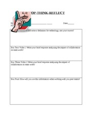 STOP-Think-Reflect Worksheet