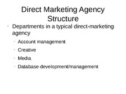 Direct Marketing Agency Structure