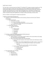 Study Guide for Exam 3  Spring 2017