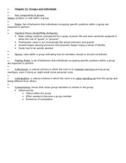APSY270 Chapter 11 Review Sheet
