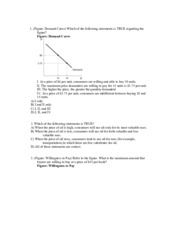 Supply & Demand Practice Problems