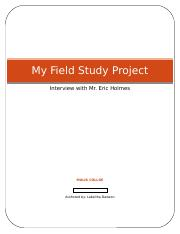 My Field Study Project cover sheet!!!!.docx