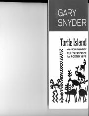READING_ Gary Snyder-Turtle Island