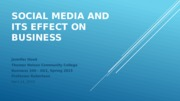 Social Media and Its Effect on Business