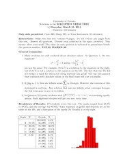 Term Test Solution Spring 2011