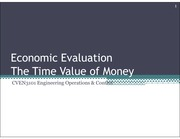 Week 2 - Economic Evaluation Time Value of Money
