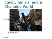 Egypt Tunisia and a Changing World