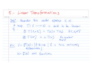 5.- Linear Transformations