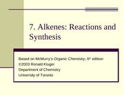 Chapter07- Alkenes- Reactions and Synthesis