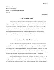What is Business Ethics Your assignment 1.pdf
