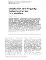 Massey, 2008, Globalization and Inequality- Explaining American Exceptionalism