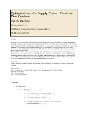 Optimization of a Supply Chain.docx