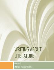 Writing about Literature Ch 2 The Role of Good Reading.pptx