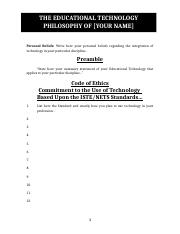 Your Educational Technology Philosophy Template (1).doc