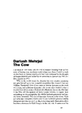 Dabashi_Darisuh Mehrjui The Cow