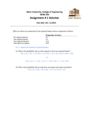 Assignment #1 Solution updated