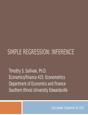 Simple regression - Inference
