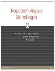 Requirement Analysis Methodologies Group Project Outline.pptx