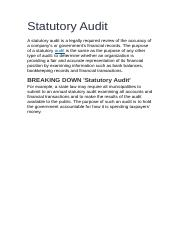 Statutory Audit.docx