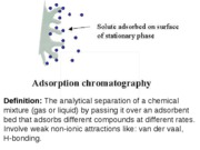 Chromatography Partition Adsorption