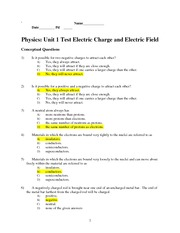 physics lab 12 electrostatics In the second part of this lab, you will be quantifying the electrostatic properties of   description, see:   html  12 test a top and bottom piece of tape with the negatively charged object.