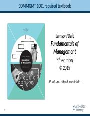 Samson Fundamentals of Management COMMGMT 1001