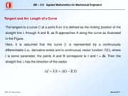 Tangent and Arc Length