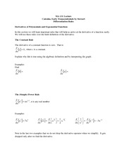 lecture 7 on Calculus I